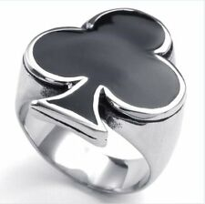 Mens Casting Spade Floral Stainless Steel Ring Free Shipping USA Size 7-12
