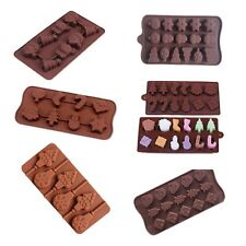 DIY CHRISTMAS Chocolate Silicone Mould Mold Cake Jelly Ice Maker Soap Mold