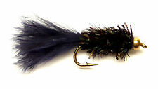 3x, 6x or 12x Fly Fishing Trout Flies (SCOT27) BLACK IPN FRITZ LURE Trout Fly