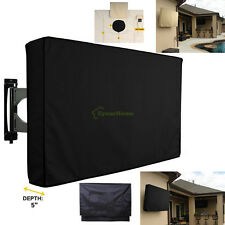 """32"""" 42"""" 46"""" Outdoor Black TV Cover Weatherproof Protector For LCD LED Plasma"""
