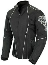 Joe Rocket Alter Ego 3.0 Womens Textile Motorcycle Jacket - Black/White