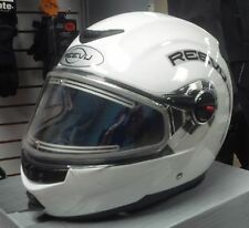 Rear Vision Modular Snowmobile helmet Reevu white gloss Black matte electric