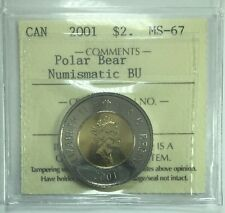 2001 Canadian Two Dollar Coin ICCS Graded MS-67 Polar Bear NBU