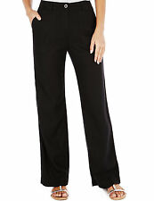 Womens Ladies M&S Marks and Spencer Linen Summer Trousers BLACK Size 8- Plus 20