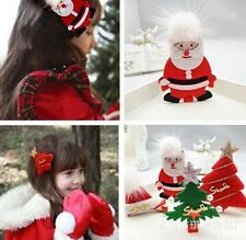 X-mas Style Santa Claus Lovely Girl Baby Hair Clip Claw Clamps Grips Accessories