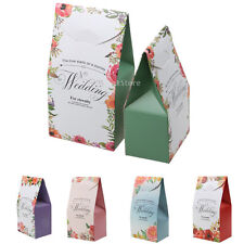 50pcs Wedding Bridal Shower Favor Boxes Candy Sweet Cake Gift Boxes Paper Bags