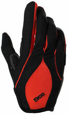 MTB CYCLING CYCLE BIKE BICYCLE BMX FULL FINGER GLOVES PADDED PALM RED