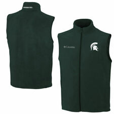 Michigan State Spartans Columbia Flanker Full ZIp Vest - Green - College