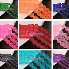 4mm 6mm 8mm 10mm Round Charms 12Colors Glass Loose Spacer Beads Wholesale Lot