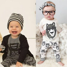 Outfits & Sets 2PCS Baby Boys Girls Long Sleeve T-Shirt +Pants Set Kids Clothes