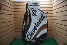 """Cleveland Tour Action  6-Dividers 9"""" inch  White/Black Golf Bag - Staff Good"""
