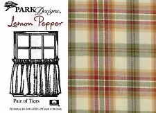 Lemon Pepper Tiers by Park Designs, Country Plaid, Choose 72x24 or 72x36 Pair