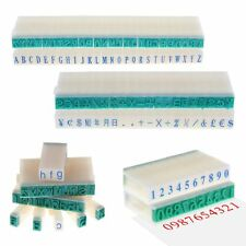 English Alphabet Letters Numbers Rubber Stamp Free Combination DIY Plastic Seal