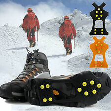 Icing Snow Stud Overshoes Spikes Cleats Grips Hiking Anti-Slip Gripper Crampons