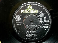 BEATLES All My Loving EP Parlophone 2nd Press 1963 No Cover