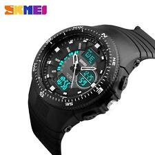 SKMEI Multi-Function Sport LED Analog Digital Mens Wrist Watch PU strap Z7Q4