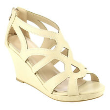 Top Moda CD04 Women's Peep Toe Cut Out Caged Wedge Dress Sandals