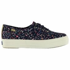 Keds Womens Triple Liberty Canvas Lo Shoes Lace Up All Over Patterned Textile