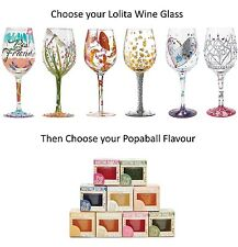 You Choose Lolita Wine Glass & Bursting Fruit Bubbles Popaball Drink Gift Set