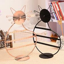 Kitty Cat Shape Earring Necklace Jewelry Display Stand Holder Show Rack