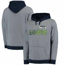 Seattle Seahawks Majestic Gameday Classic Pullover Hoodie - Heathered Navy - NFL