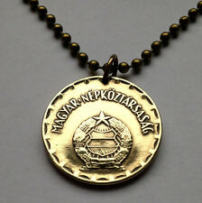 Hungary 2 Forint coin pendant Hungarian necklace socialist Budapest n001121