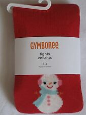 Gymboree Cozy Cutie Tights 3-4 5 6 7 NWT Red Snowman Sweater 3T 4T 5-7 Winter