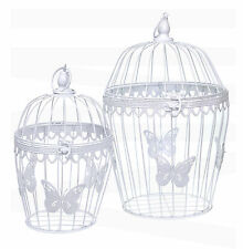 WHITE METAL BUTTERFLY WEDDING BIRDCAGE TABLE CENTREPIECE DECORATIONS