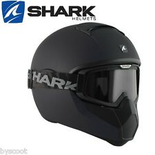 Full-face helmet SHARK Vancore Blank matt black scooter motorcycle gamer army