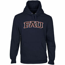 FAU Owls Arch Name Pullover Hoodie - Navy Blue - College