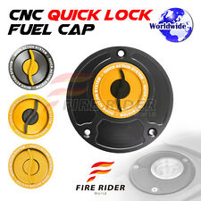 FRW BK/GD CNC Quick Lock Fuel Cap For Ducati Monster 620 / 695 / Dark All Year