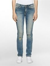 calvin klein womens ultimate skinny distressed jeans