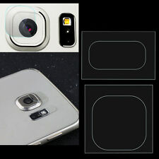 2x Back Camera Lens /Flash Tempered Glass Protector Film For Samsung S6/S7 Edge