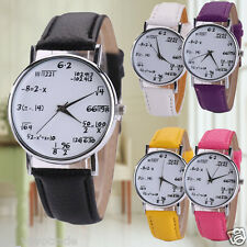Fashion Women Mens Leather Strap Stainless Steel WATCH Casual Quartz Wrist Watch