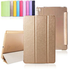 Luxury Three Folding Smart Wake Sleep Silk Leather Case Cover Stand for iPad air