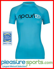 Rip Curl Surf Team Women's Short Sleeve Rashguard 50+ UV Protection - Blue