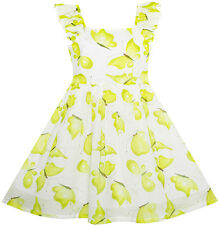 Sunny Fashion Girls Dress Cute Butterfly Flutter Sleeve Party Sundress Size 4-12