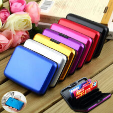 Business Waterproof ID Credit Card Wallet Holder Aluminum Metal Case Box