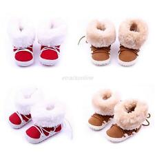 Baby Girls Boys Newborn Winter Warm Boots Toddler Infant Soft Sole Shoes 0-12M