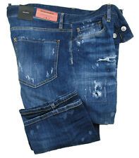 DSQUARED2 Jeans Slim Jean SIZE 56 navy blue distressed
