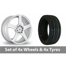 """4 x 17"""" BK Racing 166 Silver Alloy Wheel Rims and Tyres -  215/45/17"""
