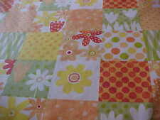 KING SZ NEW PATTERN  BRIGHT YELLOW AND OR FLORAL CHEATER  QUILT TOP PANEL 90x108