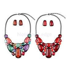 Charming Jewelry Crystal Accessory Statement Necklace Stud Earings Jewelry Sets