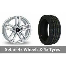 """4 x 16"""" Wolfrace Antares Silver Alloy Wheel Rims and Tyres -  195/55/16"""