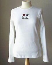C3 LADIES CORVETTE LONG SLEEVE/T-SHIRT WHITE C3 EMBROIDERED FLAGS S-XL28.00 NEW