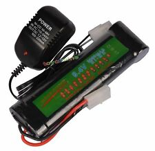 1x 8.4V NiMH 3800mAh Rechargeable Battery Pack For RC Airsoft + Charger