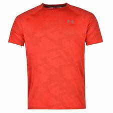 Under Armour Mens Jacquard Tech Training T Shirt Short Sleeve Crew Neck Tee