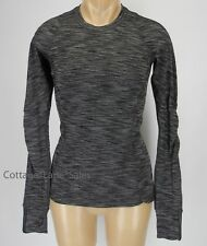 NEW LULULEMON Runderful LS Top 4 Heathered Black NWT Run Rulu FREE SHIP