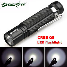 7W 1200LM CREE Q5 LED Mini Flashlight Torch Light 14500/AA Lamp Waterproof