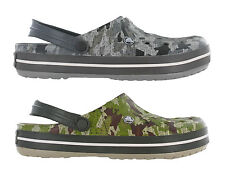 Crocs Crocband Camo Clog Unisex Slip On Comfort Lightweight Sandals Shoes UK4-12
